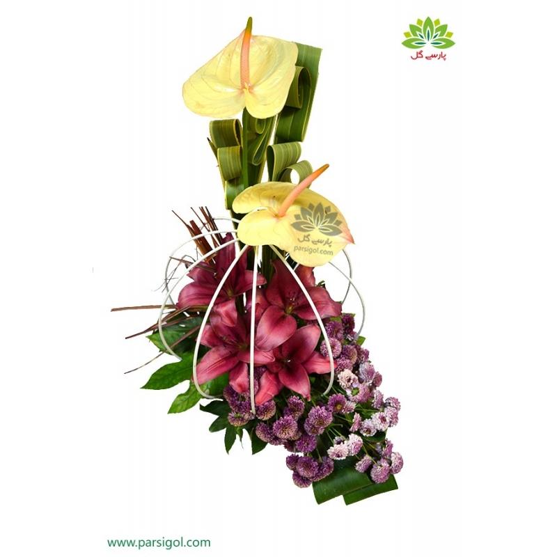 سبد گل بهاری قفس عشق کد DF02802