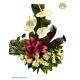 سبد گل طبیعی رومیزی لیلیوم و آنتوریوم کد DF03102