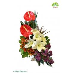 سبد گل خواستگاری اقتصادی و زیبا کد DF03602