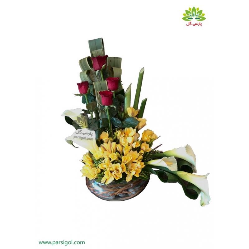 سبد گل زیبا و ارزان پیوند کد DF04302