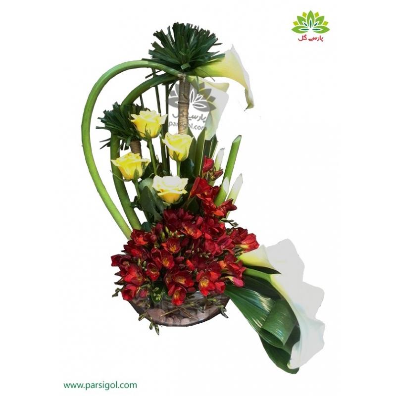 سبد گل شیک و جدید کریستال کد DF03902