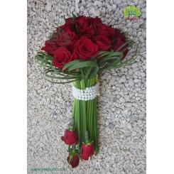 دسته گل عروس رز دو طرفه کد DF00504