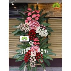 تاج گل تبریک گل رز قرمز کد DF05001