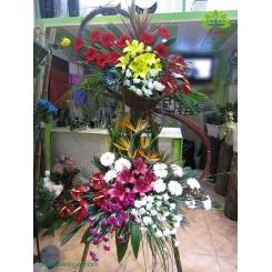 تاج گل افتتاحیه و تبریک لاکچری کد DF05701