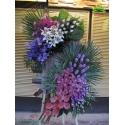 تاج گل تبریک دو طبقه ارکیده کد DF05901