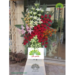 تاج گل تبریک و بازگشایی یک طبقه کد DF06101