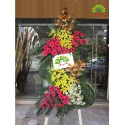 تاج گل تبریک و افتتاحیه با گل خاص کد DF07201