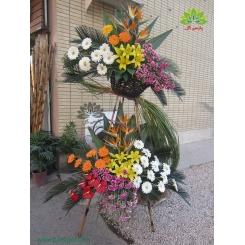 تاج گل تبریک عروسی سلطنتی کد DF07301