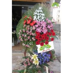 تاج گل تبریک رنگی دو متری کد DF07701