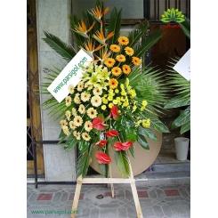 تاج گل تبریک استند چوبی کد DF09401