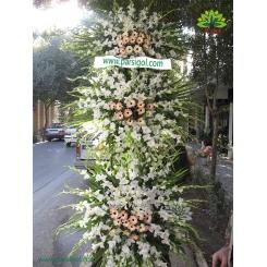 تاج گل ترحیم و عزا سه متر و نیمی کد DF11401