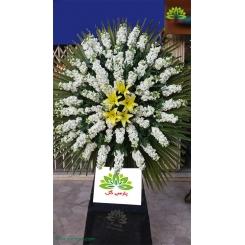 تاج گل تسلیت و خاکسپاری مرغوب کد DF10401