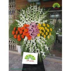 تاج گل خاکسپاری گل گلایول کد DF13101