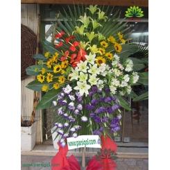 تاج گل افتتاحیه و تبریک پنج رنگ کد DF08401