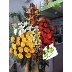 تاج گل افتتاحیه و تبریک رنگی کد DF08501