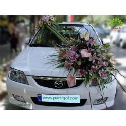 ماشین عروس خاص با گل میخک کد CR115