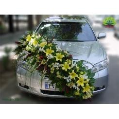 ماشین عروس گل زنبق کد CR117