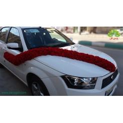 ماشین عروس گل میخک قرمز ساده کد CR003