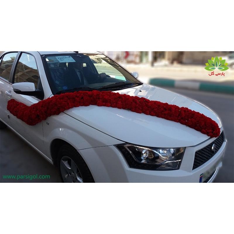 ماشین عروس گل میخک قرمز کد CR003
