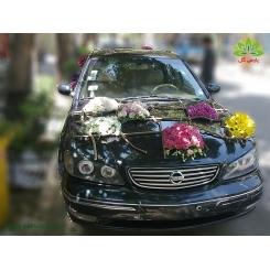 ماشین عروس مدل گوی گل رنگارنگ کد CR122