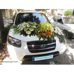 ماشین عروس شکوهمند گل ارکیده و آنتوریوم کد CR126