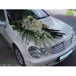 ماشین عروس گل لیسیانتوس و رز کد CR131