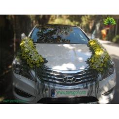 ماشین عروس با تزیین گل خطی دو طرفه کد CR028