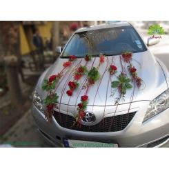 ماشین عروس ساده و فانتزی گل رز کد CR031