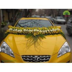 ماشین عروس گل فرزیا و میخک کد CR033