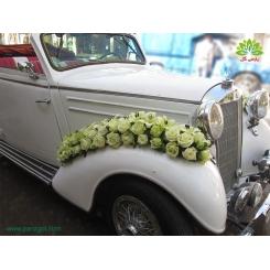 ماشین عروس با گل رز و لیلیوم کد CR038