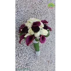 دسته گل عروس روز نامزدی کد DF01304