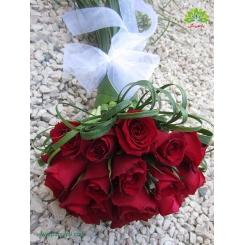 دسته گل عروس رز قرمز کد DF01704