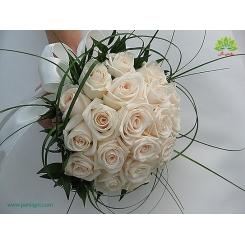 دسته گل عروس رز لاکچری کد DF02004