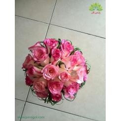 دسته گل عروس کلاسیک رز کد DF02904