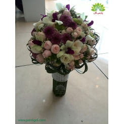 دسته گل عروس چند رنگ کد DF03104