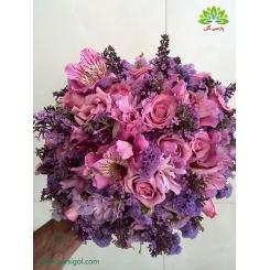 دسته گل عروس حنابندون یاس کد DF03204