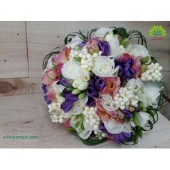 دسته گل عروس فرزیا شیک کد DF03604