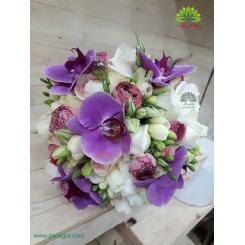 دسته گل عروس ارکیده خاص کد DF03904