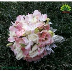 دسته گل عروس رز و ارکیده فانتزی کد DF04004