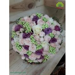 دسته گل عروس پر گل شیک کد DF04204