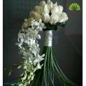 دسته گل عروس رز و ارکیده دنباله دار کد DF04304