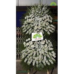 تاج گل ترحیم دو طبقه گلایول و شب بو کد DF13701