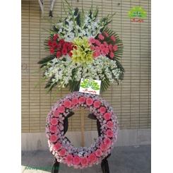 تاج گل ترحیم دو طبقه فانتزی کد DF15301
