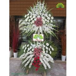 تاج گل تسلیت و فاتحه مرغوب کد DF15501