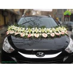 ماشین عروس گل میخک و لیلیوم سفید کد CR032