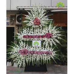 تاج گل ترحیم و عزا سه طبقه کد DF17001