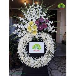 تاج گل ترحیم فانتزی گلایول کد DF17601