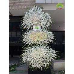 تاج گل تسلیت و ترحیم سه طبقه کد DF17801