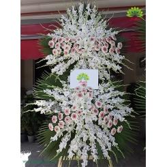 تاج گل عزاداری و ختم دو طبقه گلایول کد DF18001