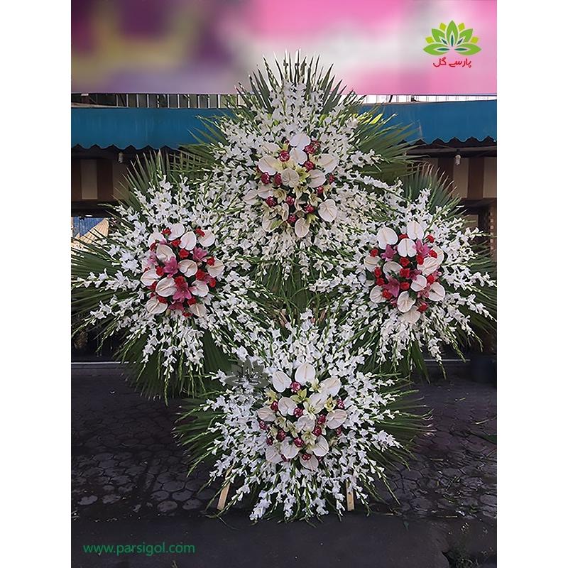 تاج گل تسلیت چهار طبقه خاص کد DF19101